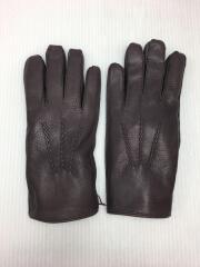 手袋/レザー/パープル/無地/メンズ/15-1544