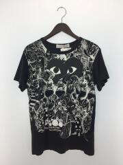 Tシャツ/M/コットン/BLK/POLKA DOT WONDERLAND/AD2009