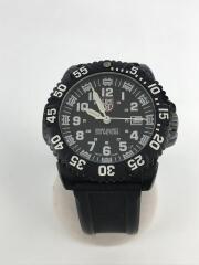 NAVYSEAL SERIES/クォーツ腕時計/アナログ/ラバー/ブラック/ブラック