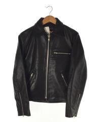 ACDC Leather/レザージャケット・ブルゾン/36/レザー/BLK/無地