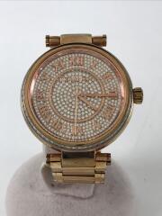 クォーツ腕時計/アナログ/ステンレス/シルバー/ゴールド
