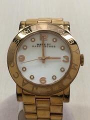 マークバイマークジェイコブス/クォーツ腕時計/アナログ/WHT/GLD/MBM3077
