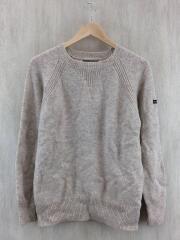 セーター(薄手)/L/アクリル/BEG/シェットランドウールクルーネックセーター/3154007