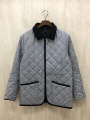 キルティングジャケット/38/ナイロン/GRY/千鳥格子