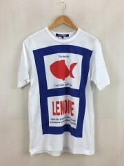 Tシャツ/L/コットン/WHT/19AW/フィッシュプリント/WD-T012
