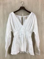 シャツ/FREE/コットン/WHT/11810417/Tuck Peplum Shirts/2018SS