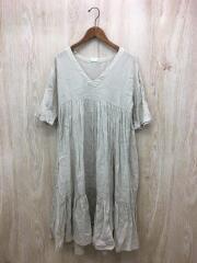 半袖ワンピース/FREE/リネン/BEG/01101-0074