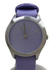 クォーツ腕時計/アナログ/ナイロン/パープル/紫/CLEAN/メンズ/シンプル/THE MOD/