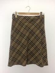 膝丈スカート/38/FLF47-621/ウール/BEG/チェック