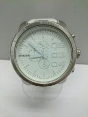 クォーツ腕時計/アナログ/WHT/WHT/DZ-4240/