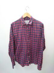 ネルシャツ/XS/コットン/レッド/チェック/ポケット