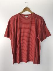 Tシャツ/3/コットン/RED/ボーダー