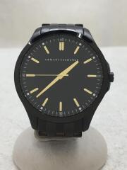 クォーツ腕時計/アナログ/ステンレス/BLK/BLK/AX2144/