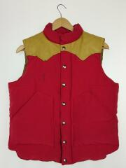 NYLON/COTTON LEATHER YOKE DOWN VEST/ダウンベスト/M/コットン/SC12340