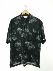 半袖シャツ/2/ポリエステル/ブラック/総柄/セレクト/メンズ/オープンカラー