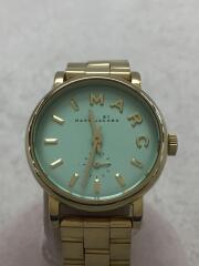 クォーツ腕時計/アナログ/GRN