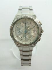 クォーツ腕時計/アナログ/ステンレス/ホワイト/7T92-0GB0/6D0813/クロノグラフ