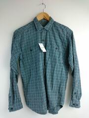 ピマコットンシャツ/長袖シャツ/XS/コットン/グリーン/チェック/53836アウトドア