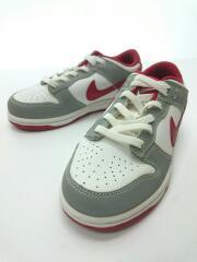 キッズ靴/17cm/ホワイト/グレー/レッド/スニーカー/311534-162/DUNK/シューレース付