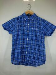 半袖シャツ/130cm/ポリエステル/BLU/チェック