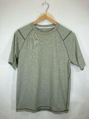 Tシャツ/S/ポリエステル/KHK/無地