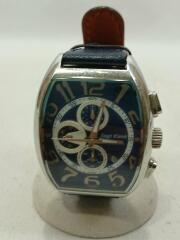 エンジェルクローバークォーツ腕時計/アナログ/DP38/レザー/NVY/NVY