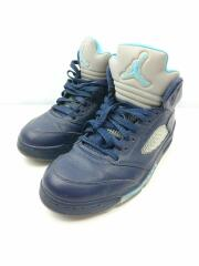 ハイカットスニーカー/US10/NVY/136027-405/AIR JORDAN 5 RETRO PRE GRAPE