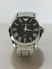 クォーツ腕時計/アナログ/ステンレス/BLK/SLV/AR-0680/ラグジュアリー/セカンドストリート
