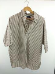 半袖シャツ/14/コットン/GRY/ストライプ/J-1281 NTS-BY/ルーズフィット半袖プルオーバ