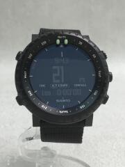クォーツ腕時計/デジタル/キャンバス/BLK/CORE/SUUNTO
