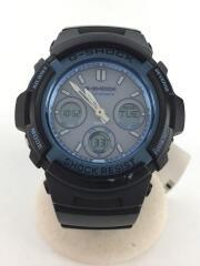 ソーラー腕時計・G-SHOCK/デジアナ/NVY