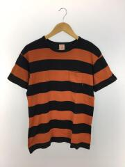 Tシャツ/L/コットン/ORN/ボーダー