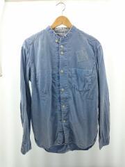 長袖シャツ/--/コットン/BLU/無地/0021b/Classic Regular Collar Shirts