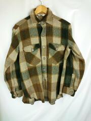 Woolrich/ウールリッチ/ネルシャツ/M/ウール/ブラウン/チェック/70s/セカスト/中古