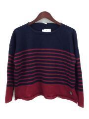 セーター(薄手)/FREE/ウール/NVY/ボーダー