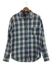 ネルシャツ/XS/コットン/NVY/チェック/2420700254-1884/ボタン欠品