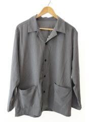 18SS/STRETCH GABARDINE SHIRTジャケット/M/ポリエステル/GRY/SOPH-180005