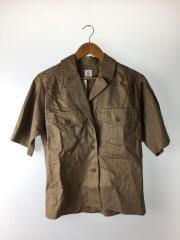半袖シャツ/38/コットン/BRW/8616-299-0010/リネン混合