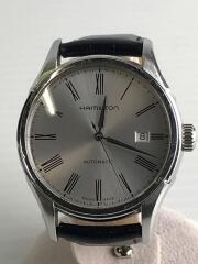 バリアント/自動巻腕時計/アナログ/レザー/WHT/BLK/H395150