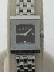 Gフレーム/3pダイヤ/クォーツ腕時計/アナログ/ステンレス/BLK/SLV/YA128507