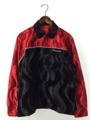 長袖シャツ/M/ベロア/RED/18SS/Velvet Swirl Work shirt