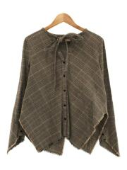 Ronherman別注/Asymmetry shirt/長袖シャツ/FREE/コットン/BRW/チェック
