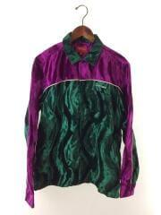 18SS/Velvet Swirl Work shirt/長袖シャツ/M/ベロア/GRN
