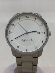 クォーツ腕時計/アナログ/ステンレス/WHT/SLV/vj42-kz30
