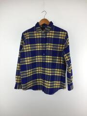L/S Nuthatch Shirt/NRW11951 /長袖シャツ/L/コットン/BLU/チェック