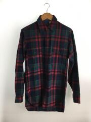 長袖シャツ/S/ウール/マルチカラー/チェック/70s/ウールシャツ
