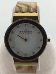 クォーツ腕時計/アナログ/WHT/GLD/358SRRD