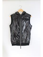 ダウンベスト/XL/ナイロン/BLK/AD013/×AKM/spring down vest