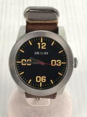 腕時計/アナログ/レザー/BLK/BRW/corporal