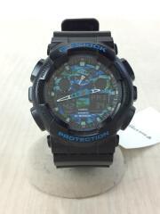 クォーツ腕時計・G-SHOCK/デジアナ/ラバー/BLU/BLK